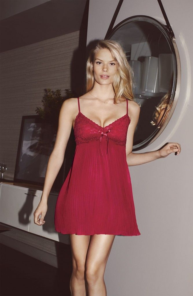 Alena Blohm In Nordstrom December 2012 Lingerie Catalog