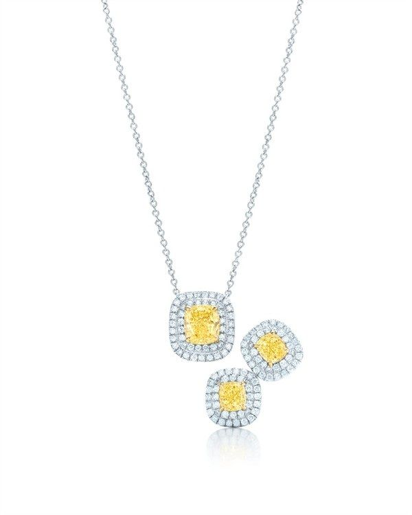 Tiffany co yellow diamonds collection 2012 fab fashion fix tiffany co necklace with square antique modified brilliant cut yellow and white diamonds in platinum mozeypictures Image collections
