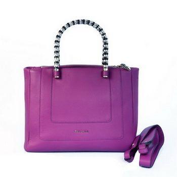Bulgari-New-Medium-Hand-Carry-Serpenti-Bag-Purple