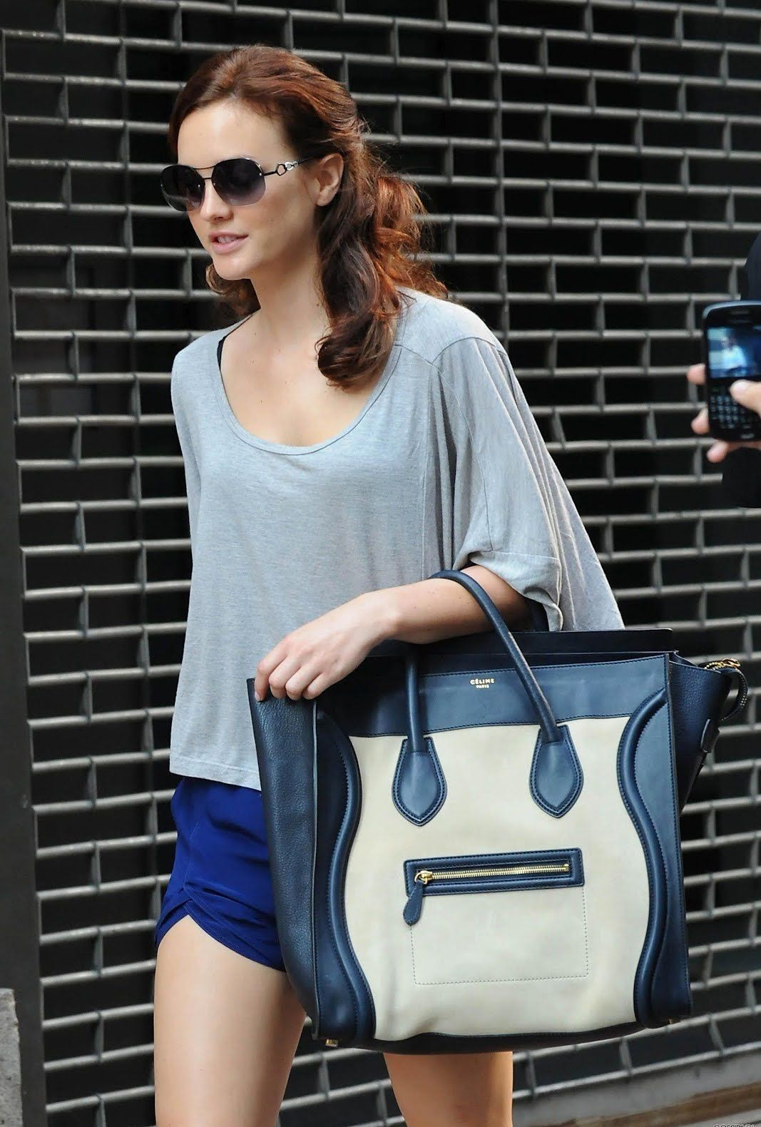 Leighton Meester Celine Luggage Tote 1