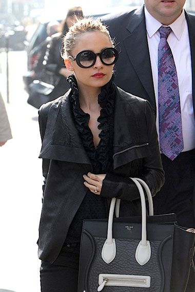 Nicole-RichieStyle-Fashion-with-Celine-Luggage-Tote