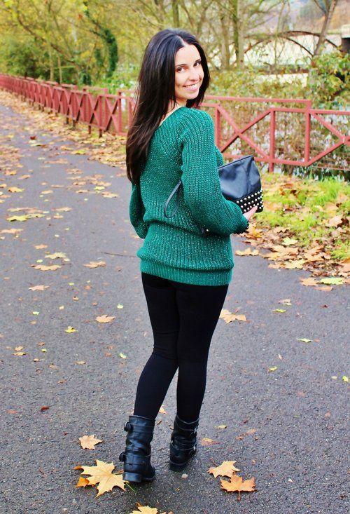 otzi-verde-oscuro-bershka-jerseys~look-main