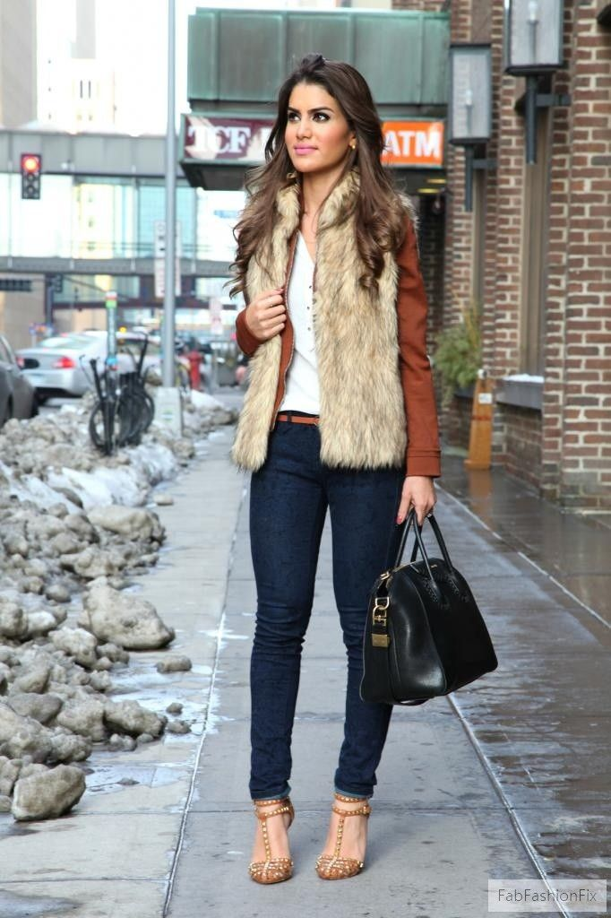 A faux fur vest, if worn correctly, is this season's tongue-in-cheek fashion layering piece that reads part boho, part French-girl chic. Follow these easy rules and enjoy the sideways glances from friends not daring enough to attempt the look themselves.