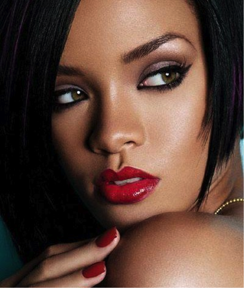 Rihanna-Red-lips
