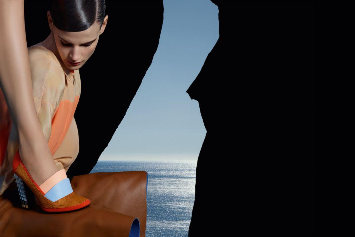 Saskia de Brauw & Kati Nescher by Karl Lagerfeld (Fendi Spring-Summer 2013)