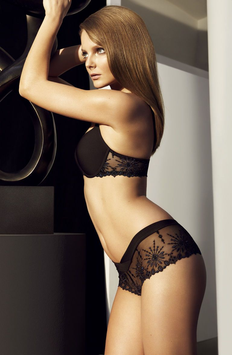 Eniko Mihalik In Chantelle Fall Winter 2012 Lingerie