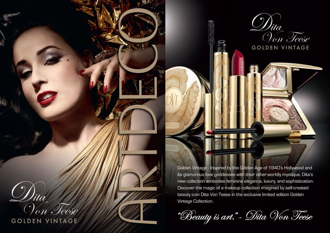 The ArtDeco Dita Von Teese Golden Vintage Collection