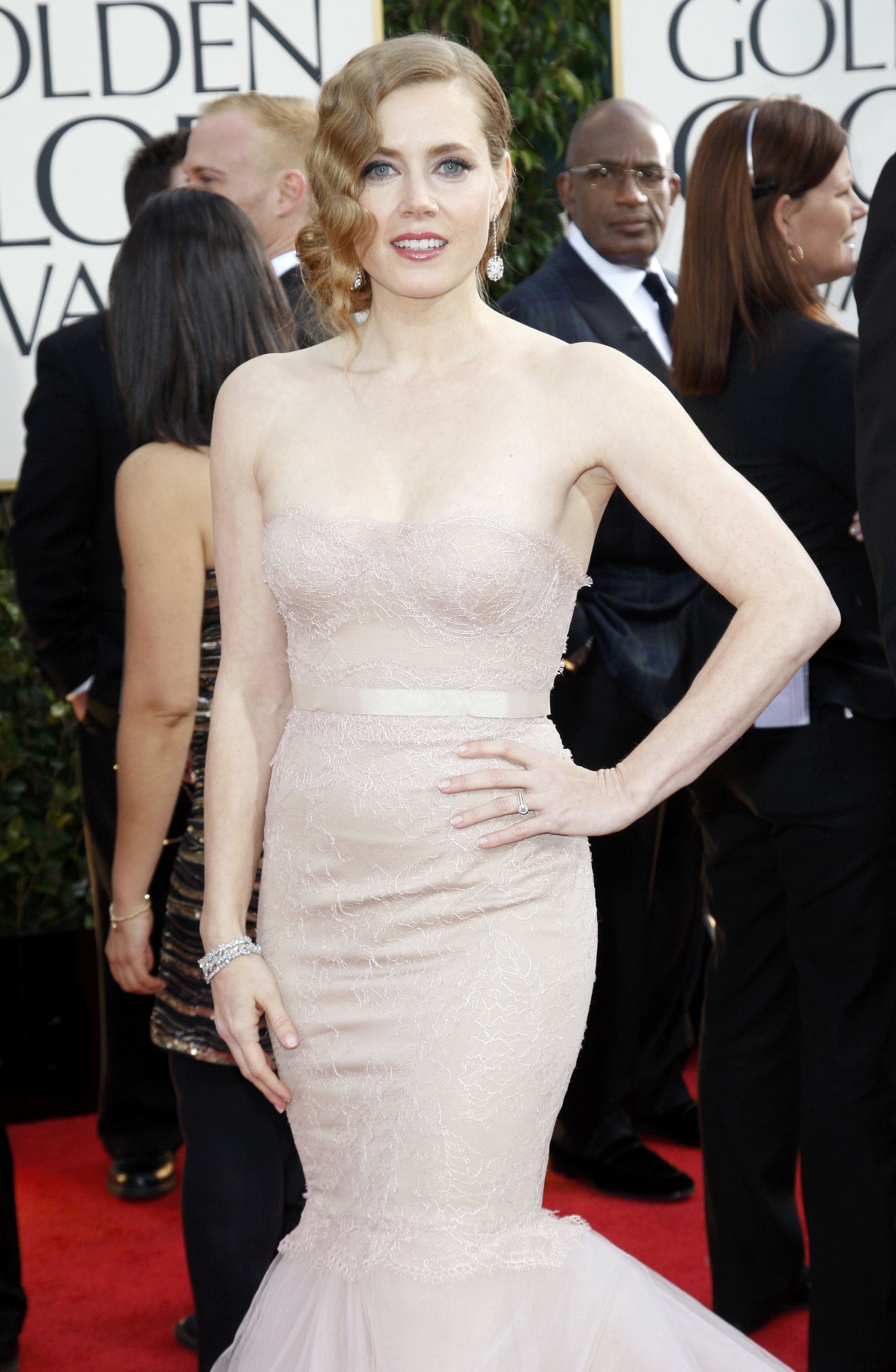 "Actress Amy Adams of the film ""The Master"" arrives at the 70th annual Golden Globe Awards in Beverly Hills"