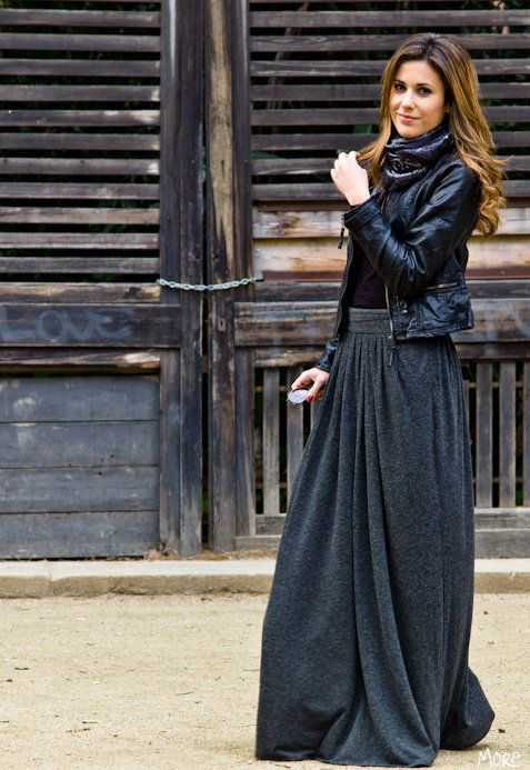 Style Guide How To Wear Maxi Skirt In Winter - Fab Fashion Fix