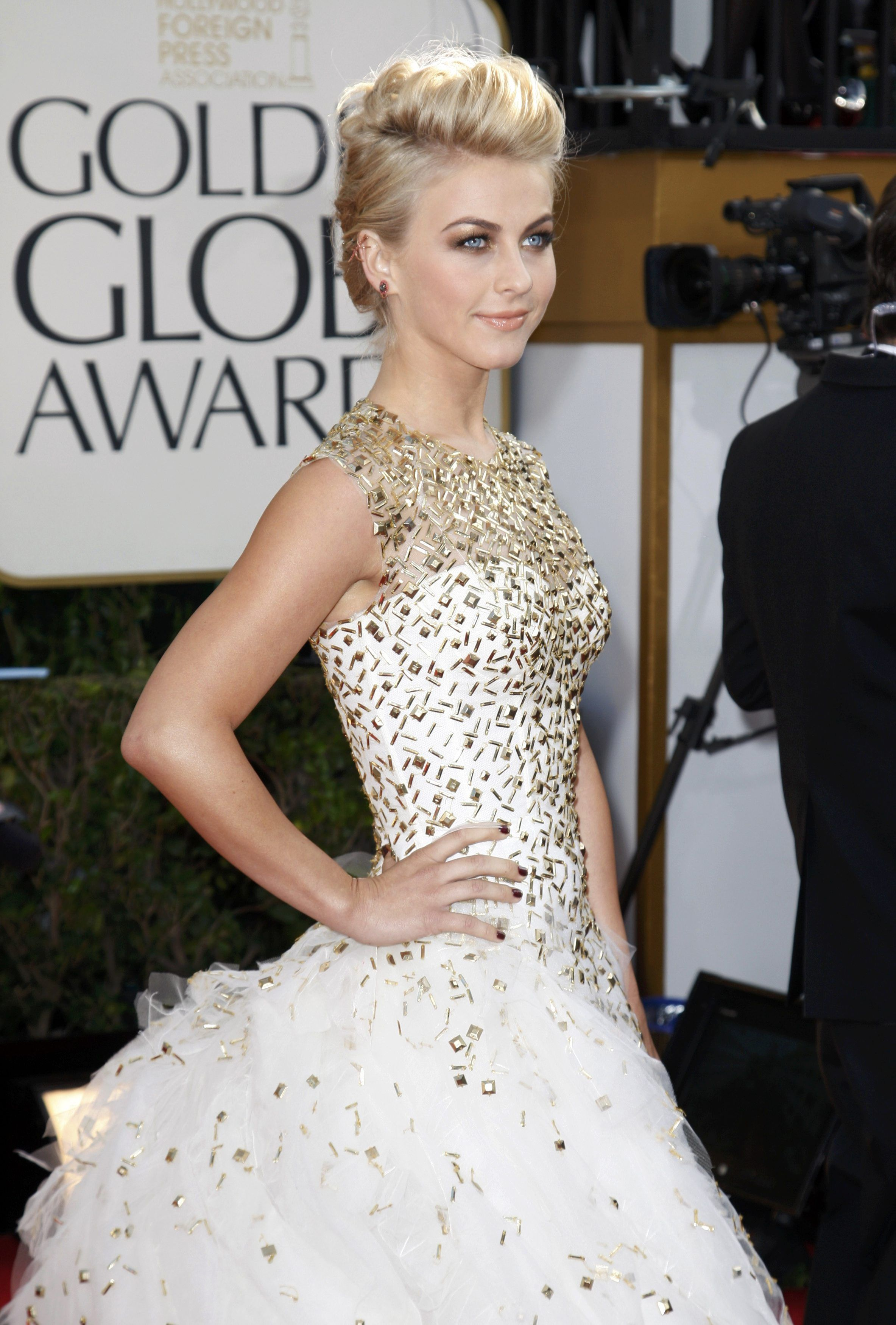 "Actress Julianne Hough of the film ""Rock of Ages"" arrives at the 70th annual Golden Globe Awards in Beverly Hills"