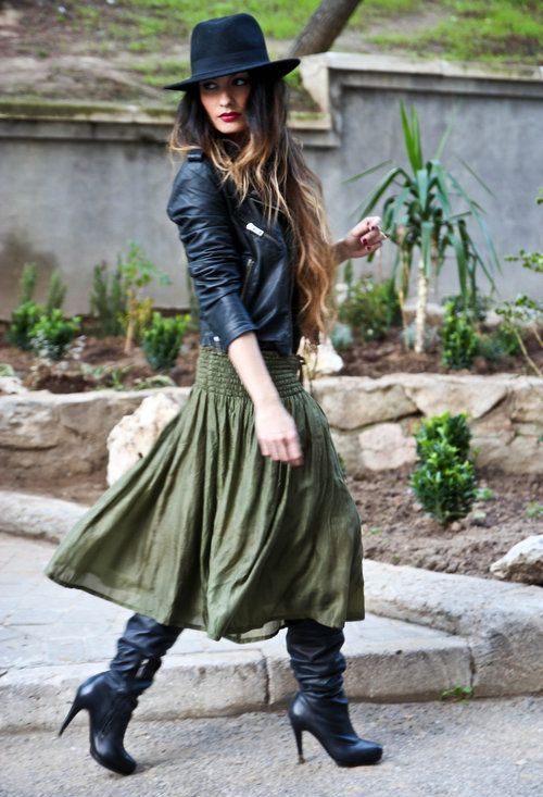A Beginner s Guide to Wearing Skirts with Boots - Verily 83