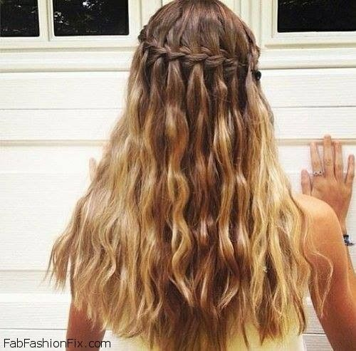 Hair How To Do A Waterfall Braid Hairstyle Fab Fashion Fix