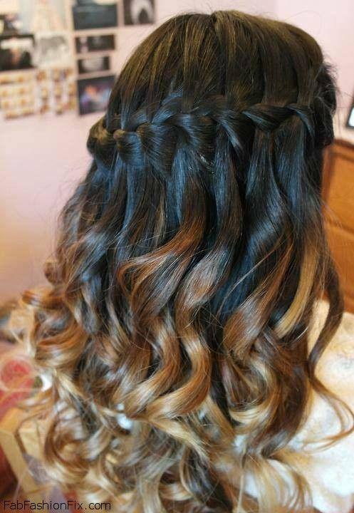 Hair How To Do A Waterfall Braid Hairstyle Fab Fashion Fix