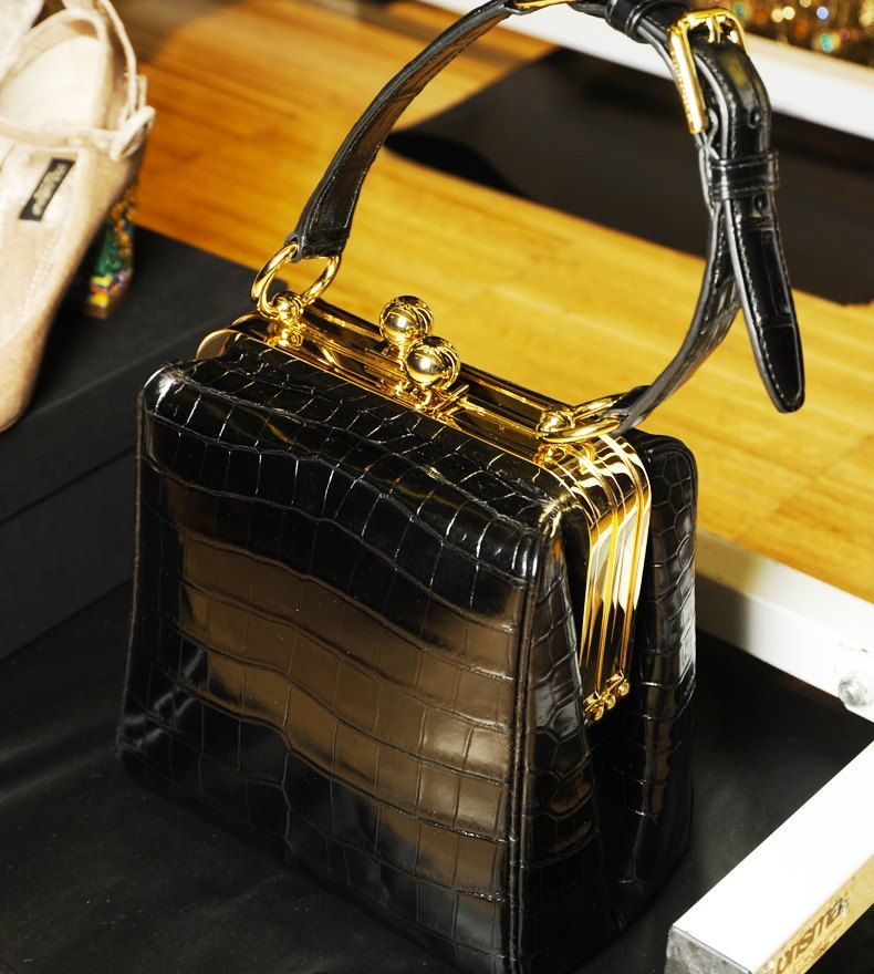 Crocodile skin Agata bag