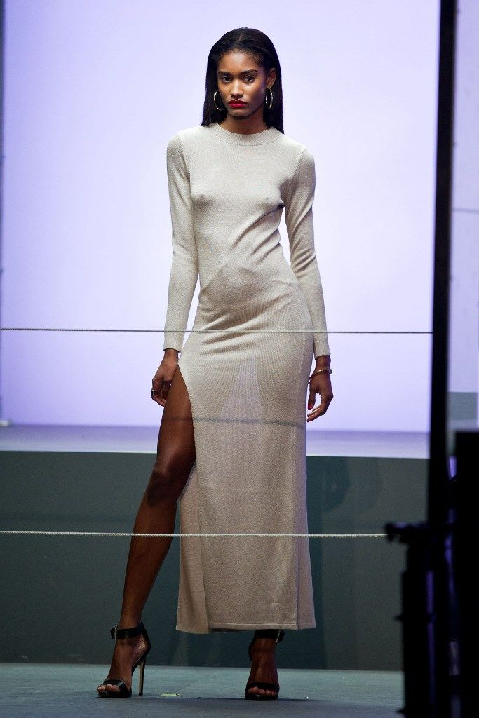 Melodie Monrose for Rihanna for River Island during LFW 16.2.2013