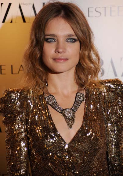 Natalia Vodianova Bronze Statement Necklace