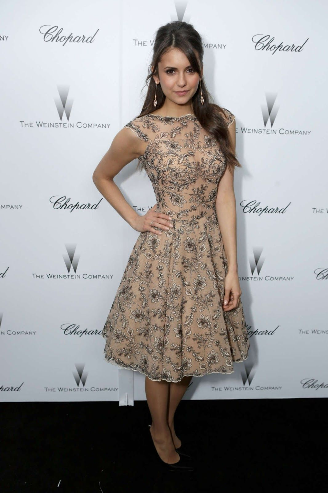 Nina Dobrev The Weinstein Company Academy Award Party 2013-001