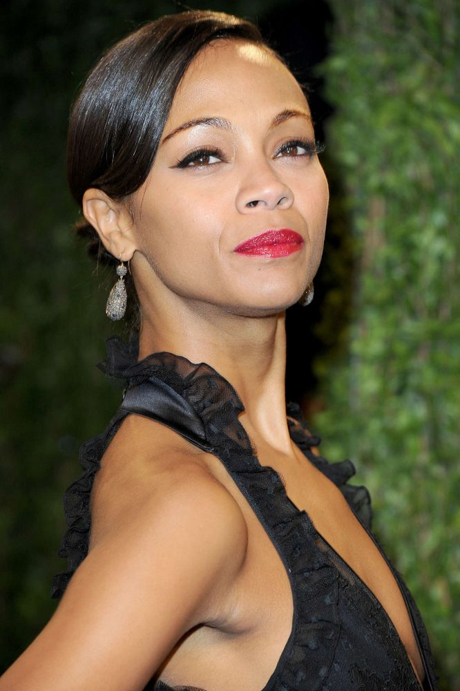 Zoe Saldana Oscar Vanity Fair Party 2013-001