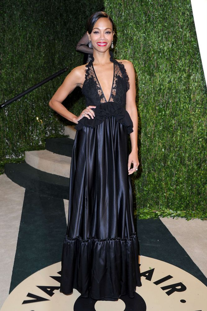 Zoe Saldana Oscar Vanity Fair Party 2013
