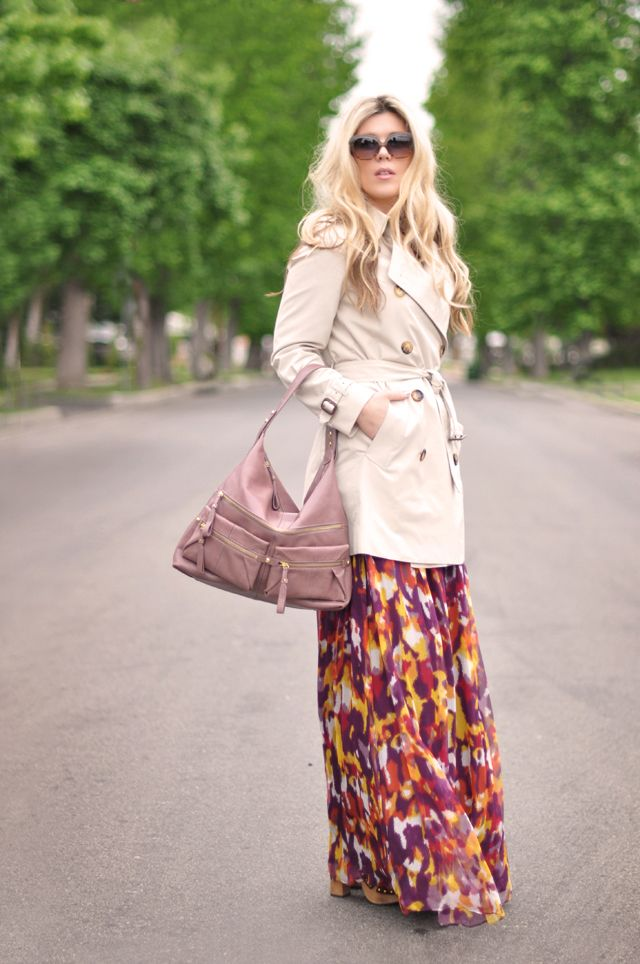 floral-maxi-dress-with-trench-coat