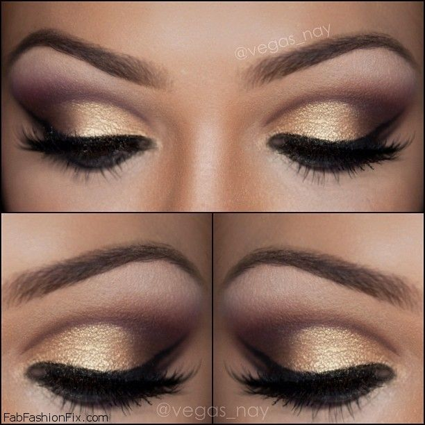 Golden Smokey Eye Makeup Tutorial by Lisa Eldridge - Fab ...