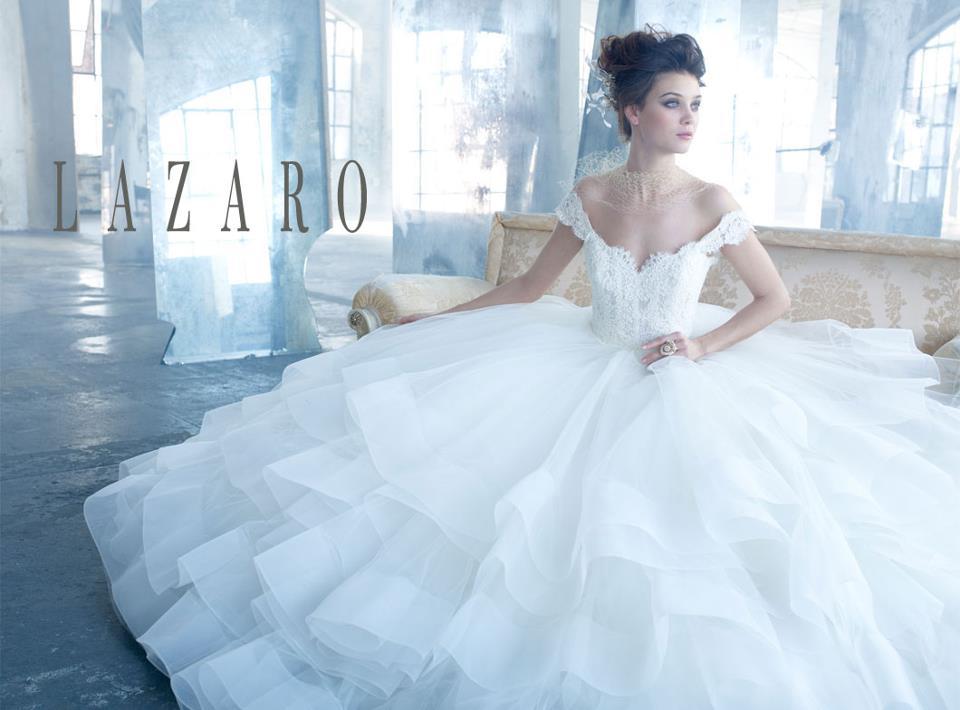Lazaro Peplum Bridesmaid Dresses