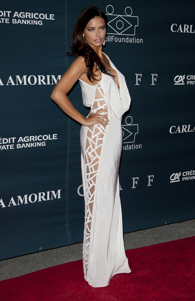 Victoria Secret model Adriana Lima at Brazil Foundation Gala Miami