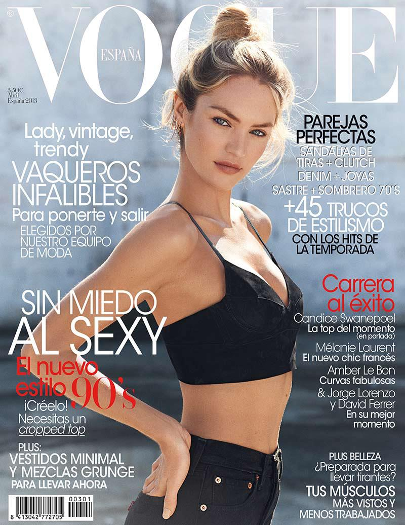 Candice Swanepoel for Vogue Spain April 2013 Cover