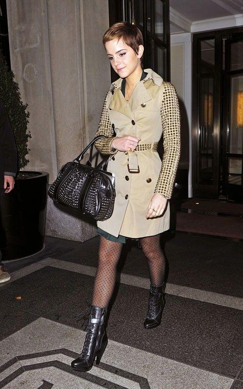 Emma-Watson-Burberry-studded-trenchcoat