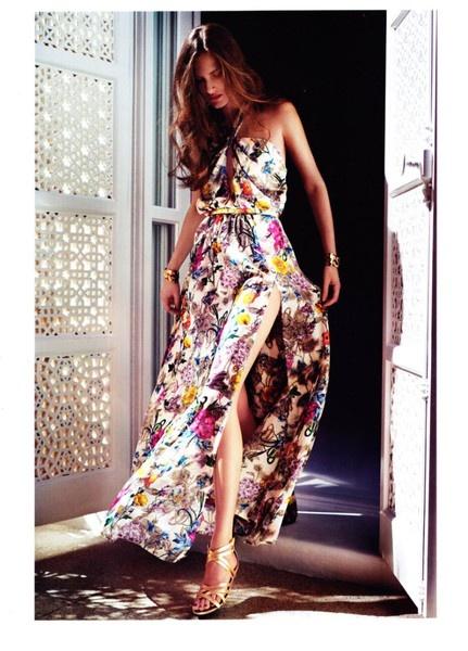 Floral-Print-Maxi-Dress