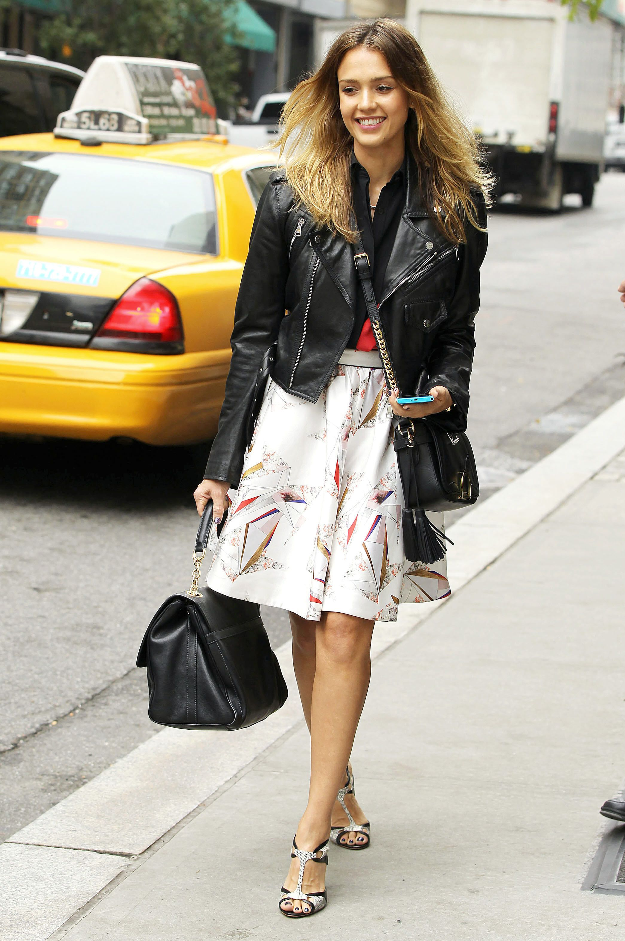 Style watch celebrity spring looks with leather jacket Fashion celebrity street style