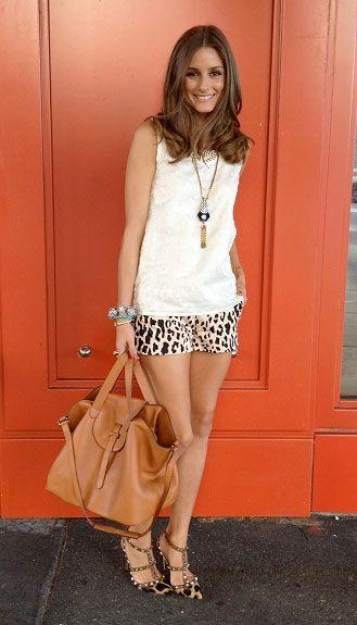 Olivia-Palermo-Tibi-Cheetah-Print-Shorts