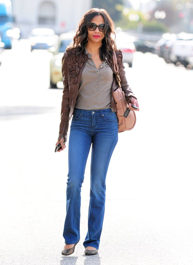 Style Watch: Celebrity spring looks with leather jacket ...