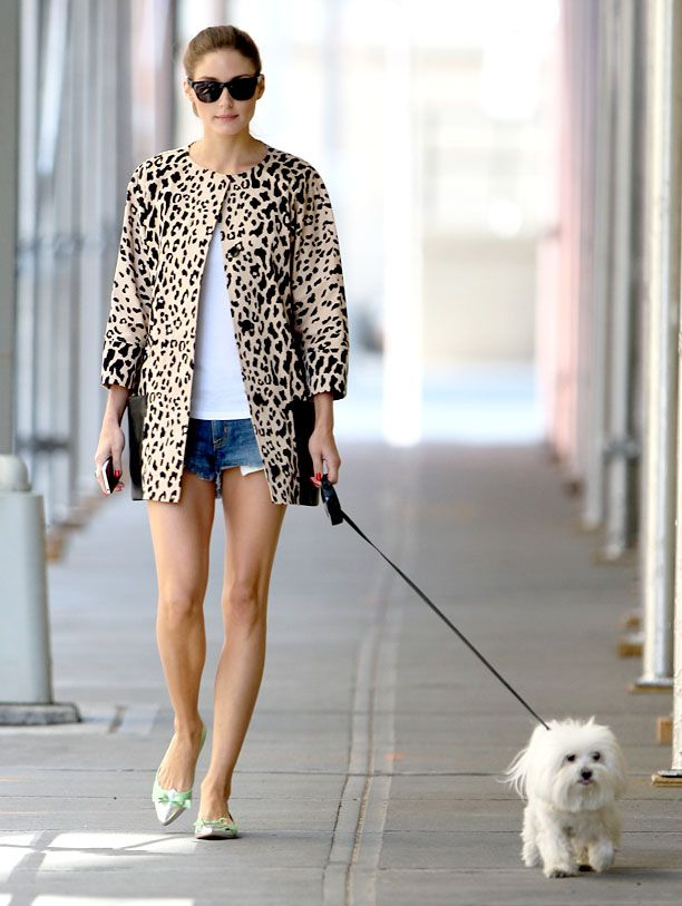 Olivia Palermo seen out walking her dog Mr Butler in Tribeca,NYC.