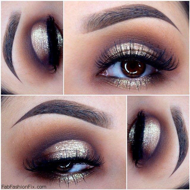 Golden Smokey Eye Makeup Tutorial by Lisa Eldridge | Fab Fashion Fix