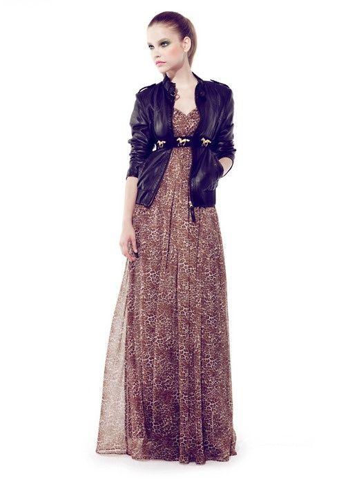 jacket print dress
