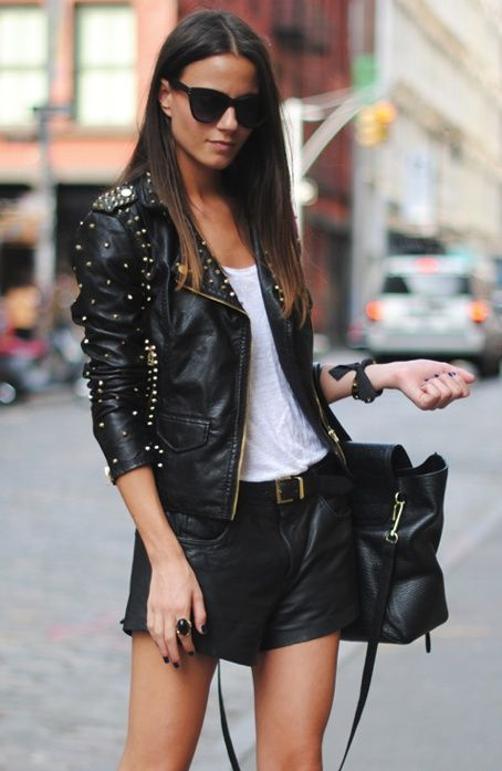 How To Wear Black Leather Jacket This Spring | Fab Fashion Fix
