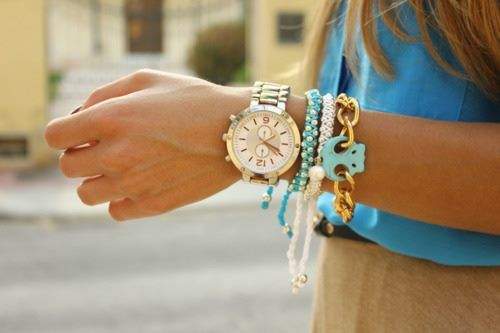Style Watch Colorful Layering Bracelets Trend Fab