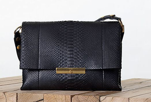 Celine-Black-Python-Blade-Bag-Fall-2013