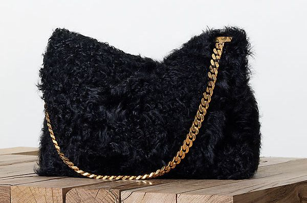 Celine-Gourmette-Shoulder-Bag-Fur-Fall-2013