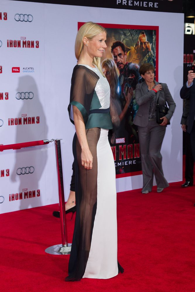Gwyneth Paltrow flaunts amazing body in see-through dress at the 'Iron Man 3' Los Angeles Premiere