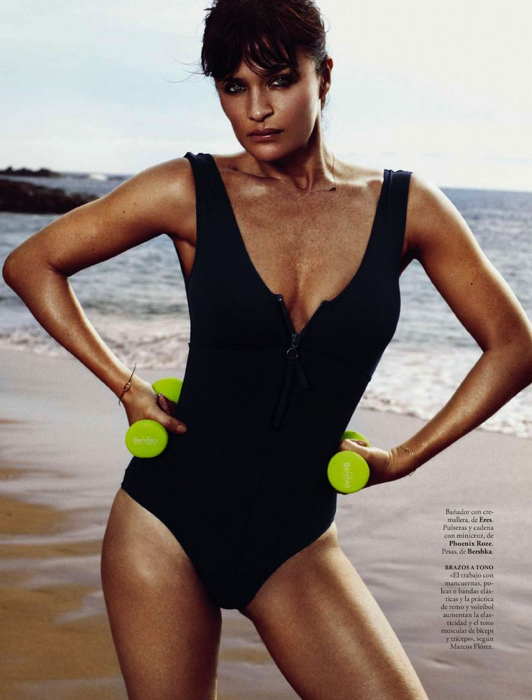 Helena Christensen Elle Spain May 2013-022