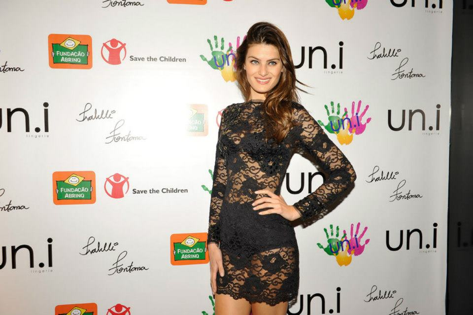 Isabeli Fontana launch of charity campaign Un.i Lingerie Save The Children