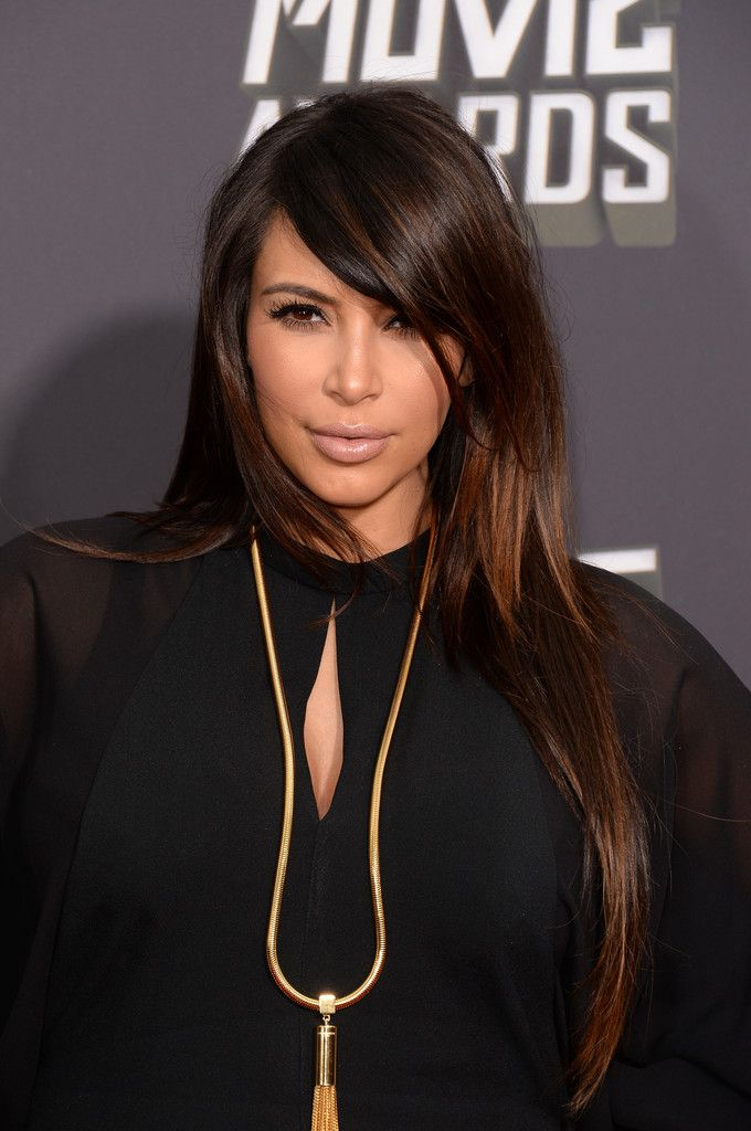 Kim Kardashian MTV Movie Awards in Culver City 2013-002