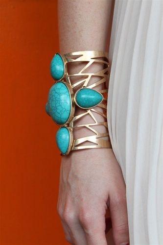 Turquoise Cross Mega Cuff