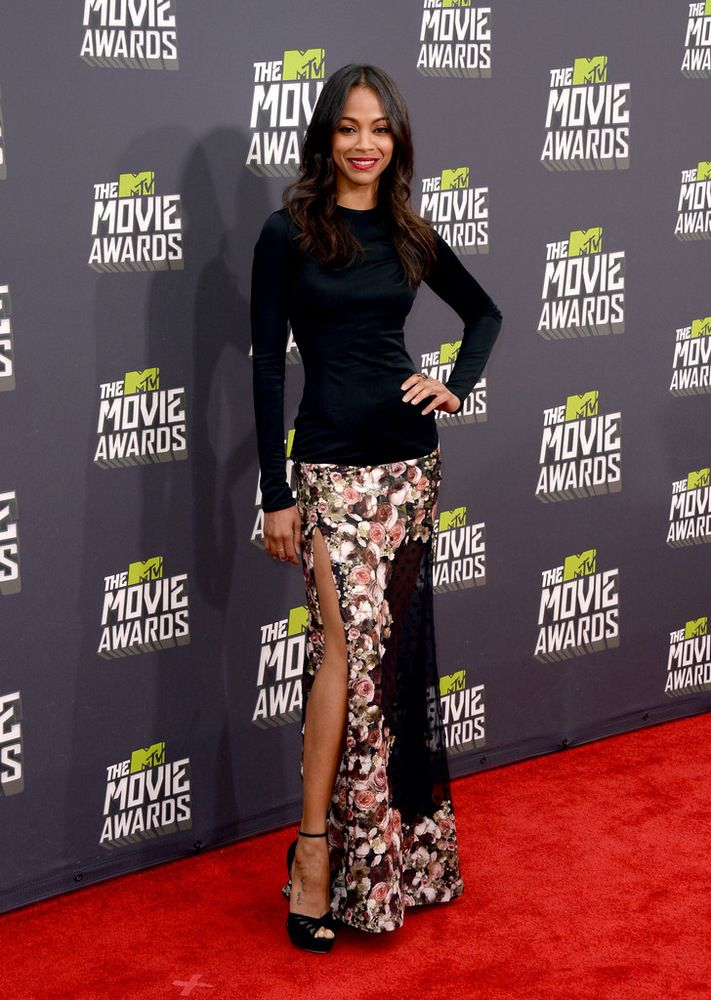 Zoe Saldana MTV Movie Awards in Culver City 2013