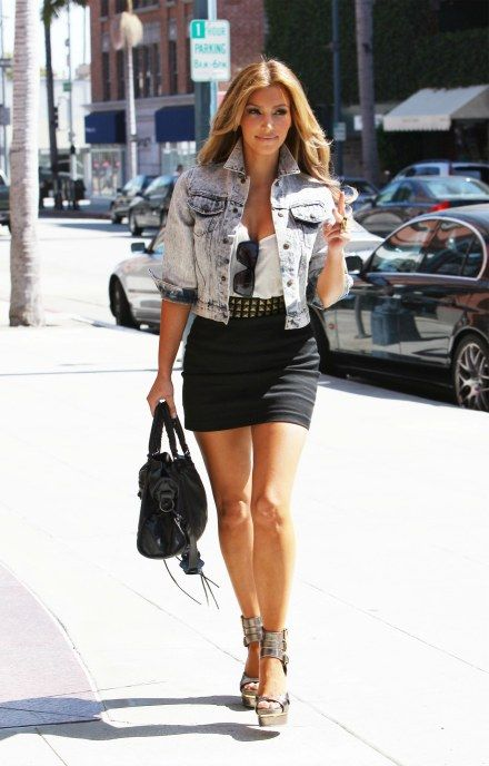 Style Watch Celebrity looks with denim jacket - Fab Fashion Fix