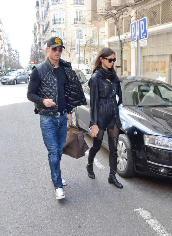 Cristiano Ronaldo and Irina Shayk Sighted Shopping in Madrid on March 19, 2013