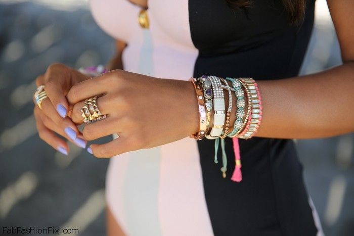 Style Watch: Colorful Layering Bracelets trend