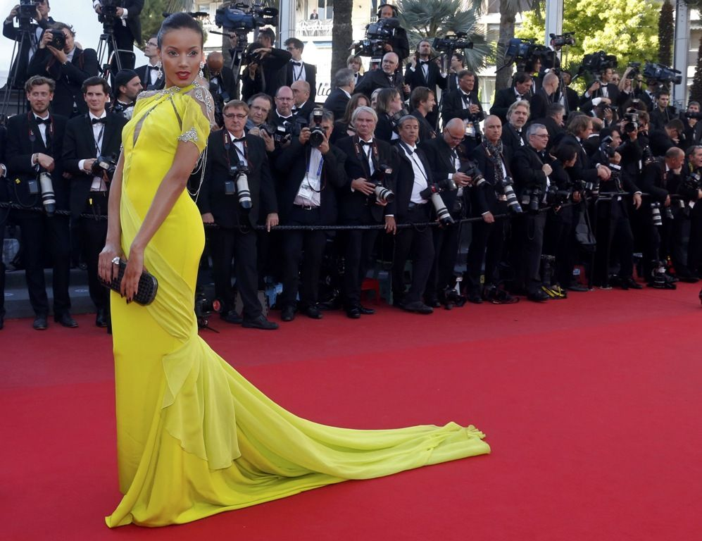 Selita Ebanks arrives for the film Blood Ties during the 66th Cannes Film Festival 20.5.2013_01